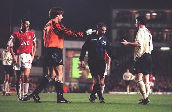 "Fowler vs Arsenal 1997. ""Deceived the referee"" by diving and asked for the decision to be overturned."